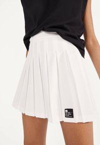 Bershka - Pleated skirt - white - 3