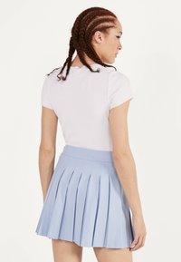 Bershka - Plisovaná sukně - light blue - 2