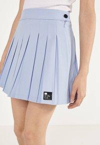 Bershka - Plisovaná sukně - light blue - 3