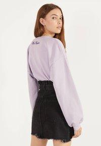 Bershka - MIT GÜRTEL - A-line skirt - grey - 2