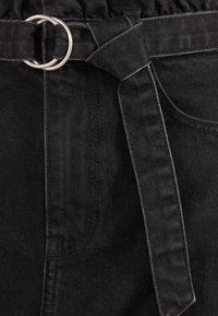 Bershka - MIT GÜRTEL - A-line skirt - grey - 5