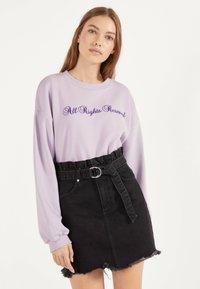 Bershka - MIT GÜRTEL - A-line skirt - grey - 0