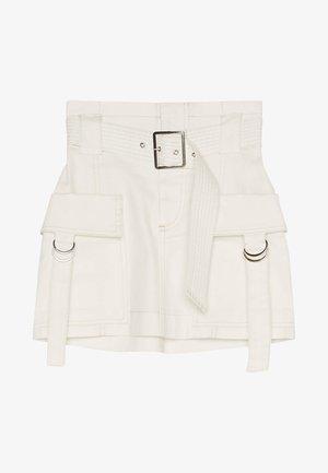 MIT GÜRTEL  - Áčková sukně - white
