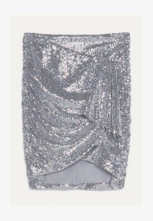 Mini skirt - silver
