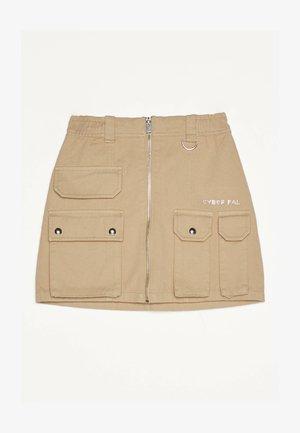 MIT REISSVERSCHLUSS 00569019 - Áčková sukně - beige