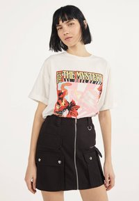Bershka - MIT REISSVERSCHLUSS 00569019 - A-line skirt - black - 0