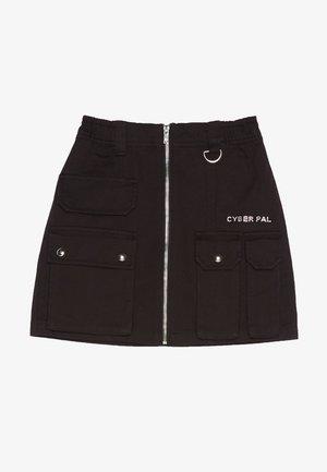 MIT REISSVERSCHLUSS 00569019 - A-line skirt - black
