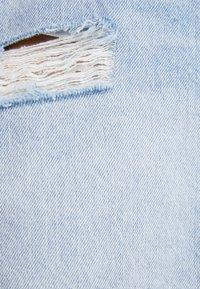Bershka - MIT RISSEN - Denim skirt - blue denim - 4