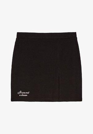 KURZER BLEISTIFTROCK 00585019 - Spódnica trapezowa - black