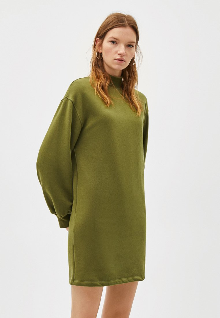 Bershka - Korte jurk - khaki