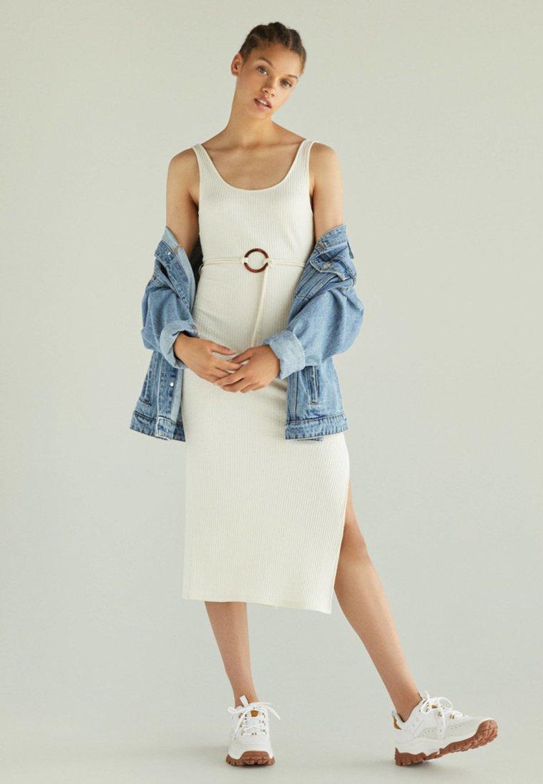 Bershka - Jumper dress - beige
