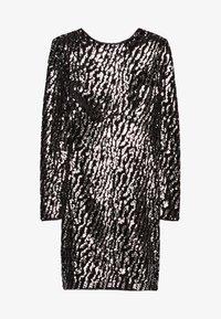Bershka - MIT PAILLETTEN UND SAMT - Sukienka koktajlowa - silver - 4