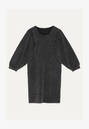 PLÜSCHKLEID MIT BALLONÄRMELN 00385492 - Korte jurk - black