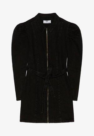 00432335 - Denimové šaty - black