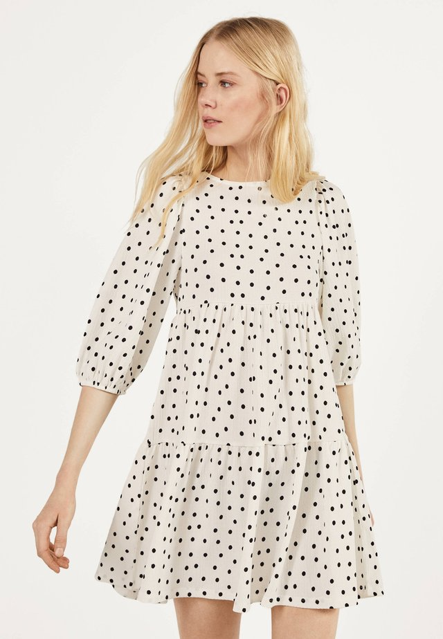 MIT PRINT - Sukienka letnia - beige