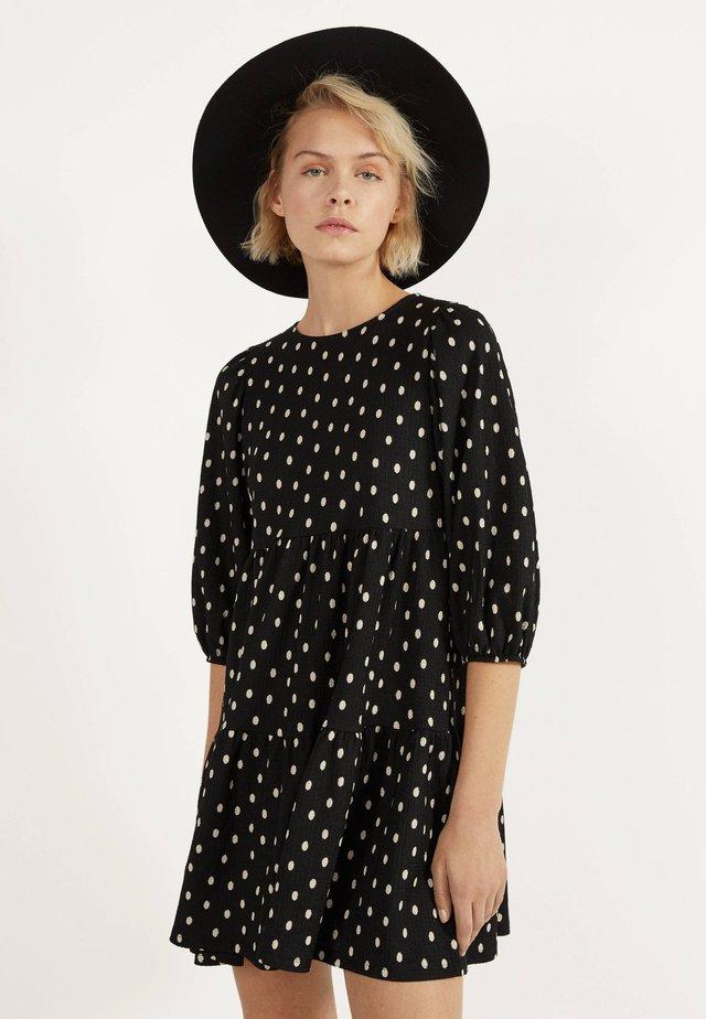 MIT PRINT - Korte jurk - grey