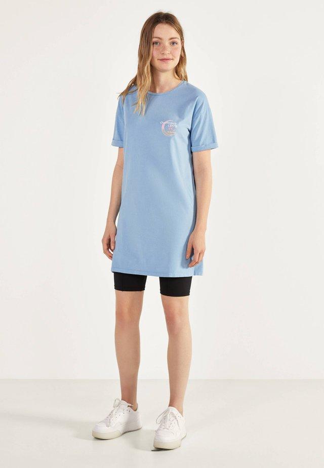 IM ACID-WASH-LOOK - Korte jurk - turquoise
