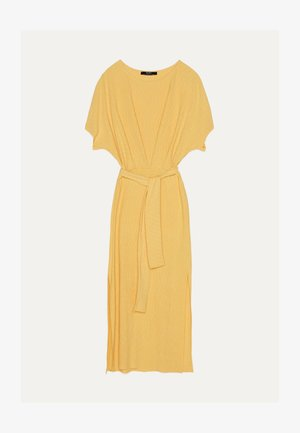 MIT GÜRTEL  - Day dress - mustard yellow