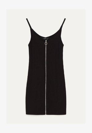MIT REISSVERSCHLUSS  - Robe en jersey - black