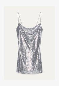 Bershka - MIT GLITZER 00463810 - Sukienka koktajlowa - silver - 4