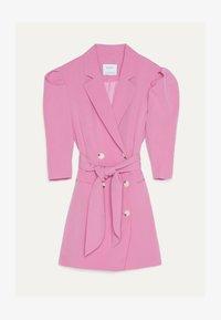 Bershka - MIT BALLONÄRMELN - Robe chemise - pink - 4
