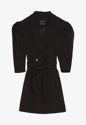 MIT BALLONÄRMELN - Košilové šaty - black