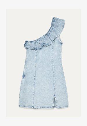 MIT VOLANTS - Denimové šaty - blue denim