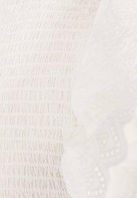 Bershka - MIT STICKEREI UND VOLANTS - Shift dress - white - 5