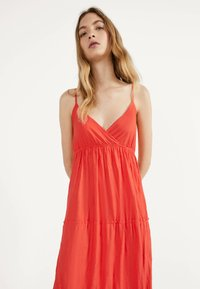 Bershka - MIT TRÄGERN - Maxi dress - red - 2