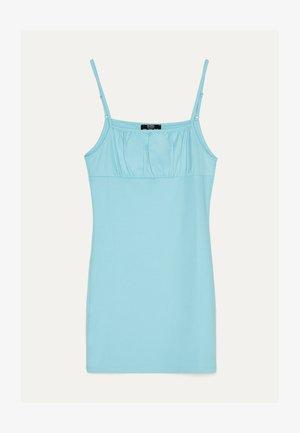 KURZES GERAFFTEM AUSSCHNITT - Denní šaty - turquoise