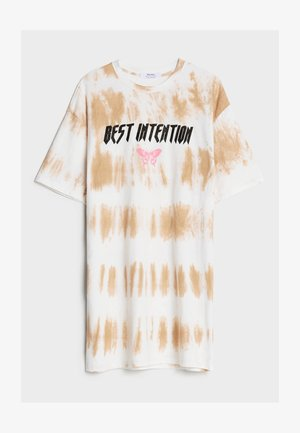 MIT TIE-DYE - Robe en jersey - brown