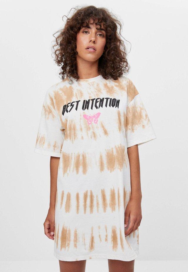 MIT TIE-DYE - Sukienka z dżerseju - brown