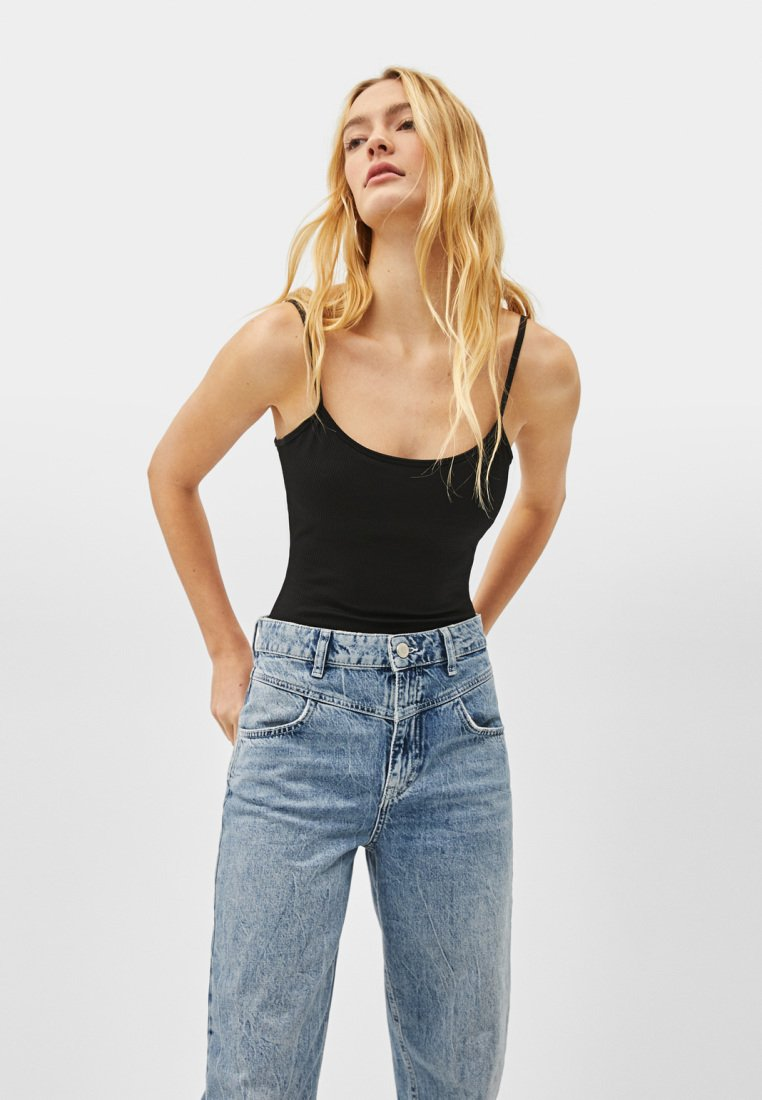 Bershka - Top - black