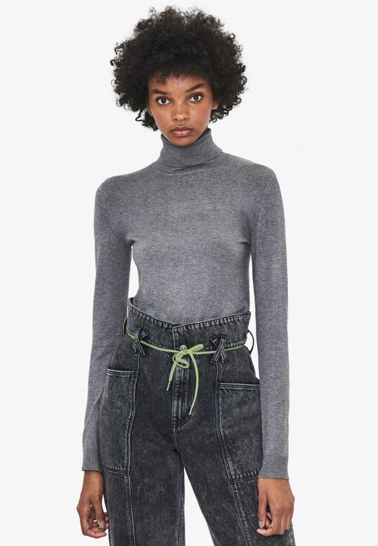 Bershka - Sweter - grey
