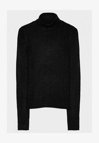 Bershka - Stickad tröja - black - 5