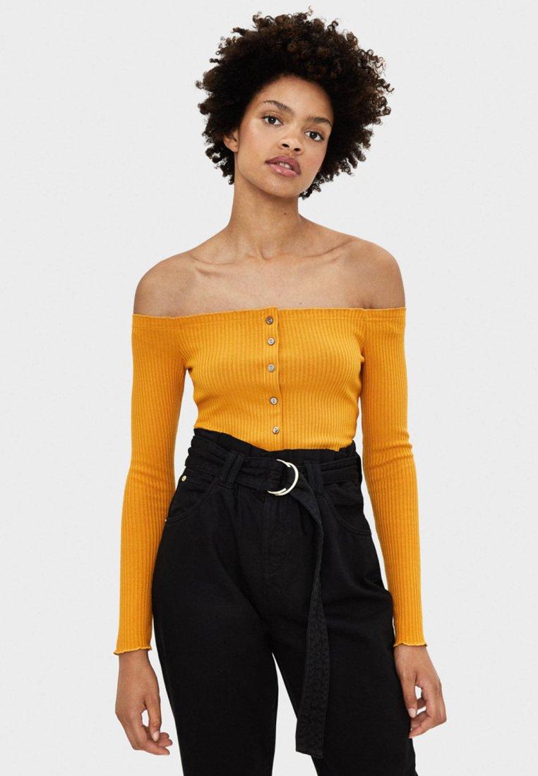 Bershka - Long sleeved top - mustard yellow