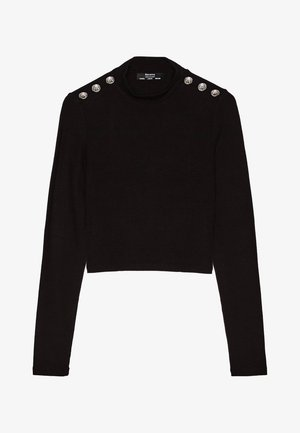 MIT KNÖPFEN - Stickad tröja - black