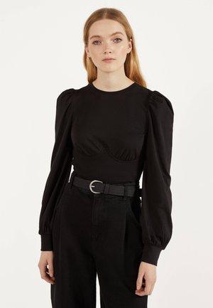 SHIRT IM CORSAGENLOOK 01943187 - T-shirt à manches longues - black