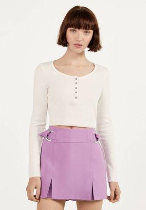 MIT KNÖPFEN - Sweter - white