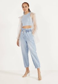 Bershka - Top - light blue - 1