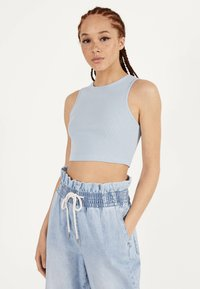 Bershka - Top - light blue - 0
