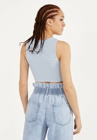 Bershka - Top - light blue - 2