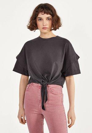 MIT KNOTEN  - T-shirt imprimé - black