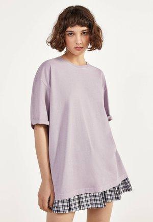 MIT KURZEN ÄRMELN - Basic T-shirt - mauve