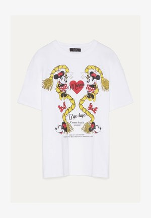SHIRT MIT MINNIE 01974469 - Print T-shirt - white