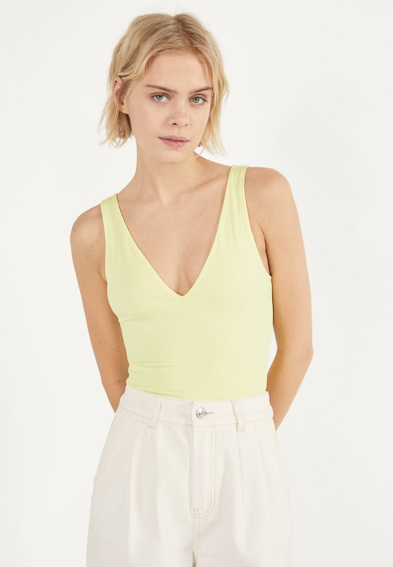 Bershka - Top - yellow