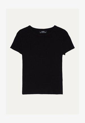MIT KURZEN ÄRMELN  - Basic T-shirt - black