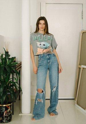 SWEATSHIRT YODA - Print T-shirt - grey