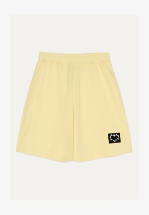 MIT PRINT - Shorts - yellow