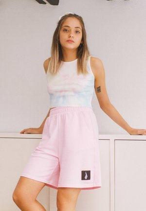 MIT PRINT - Shorts - pink